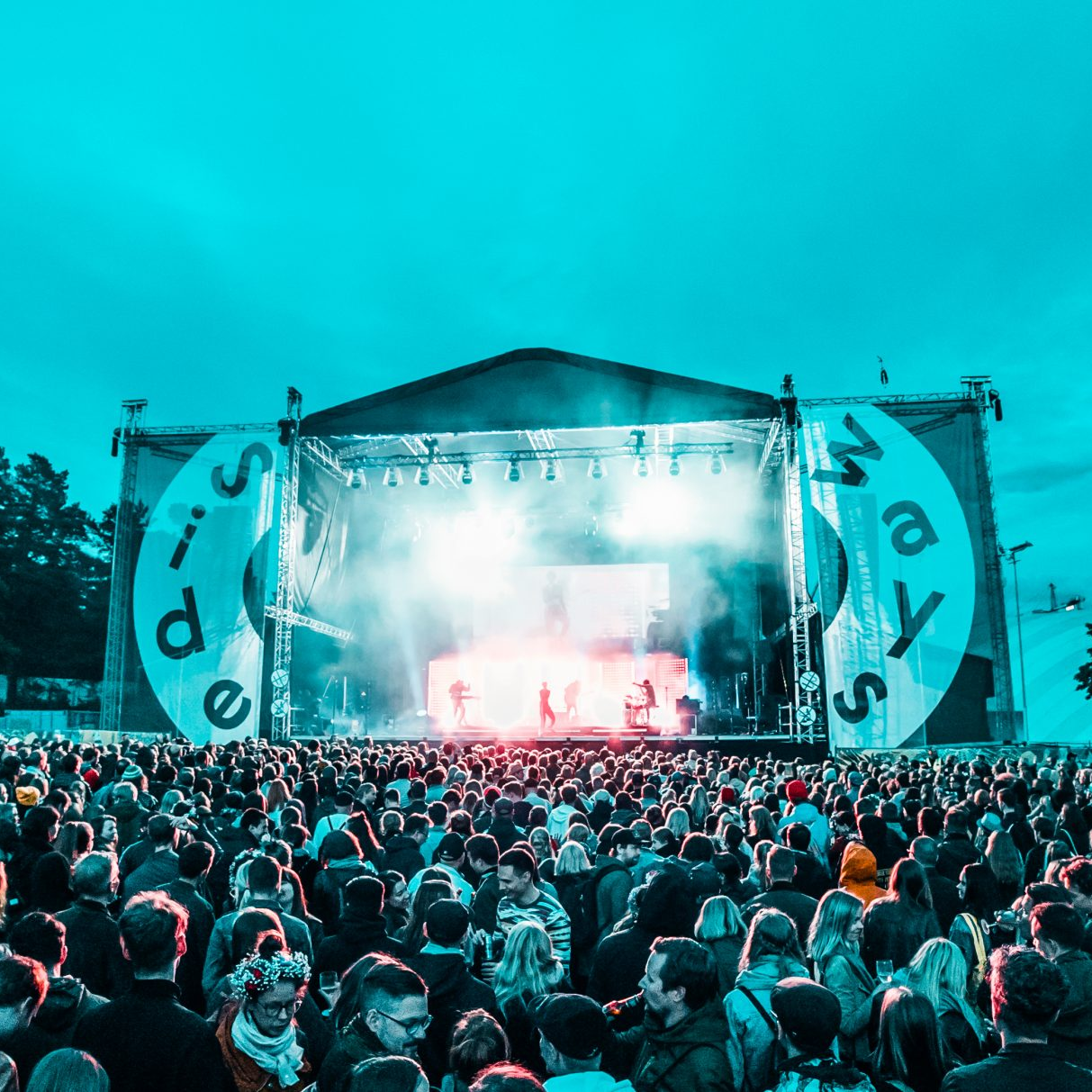 A crowd of people at a SideWays festival.
